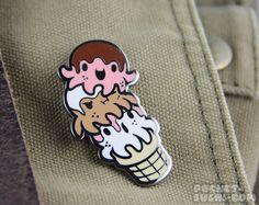 Octopus Ice Cream Cone Hard Enamel Pin by PocketSushi on Etsy