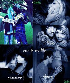 emo kiss <3