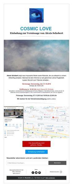 COSMIC LOVE  Einladung zur Vernissagevon Alexis Schobert Group, Artist, Visual Arts, Invitations, Amen, Artists