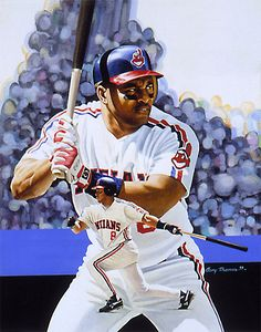Albert Belle, acrylic on illustration board 16x21 by Gary Thomas