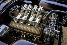 For its owner, this 1963 Corvette split-window was about turning dreams into reality by building an all-out, detail-oriented restomod. Ls Engine, Motor Engine, Truck Engine, 1954 Chevy Bel Air, Performance Engines, Race Engines, American Muscle Cars, Hot Rods, Chevy Trucks