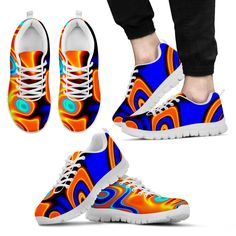 Trippy Abstract Adults Kids Sneakers