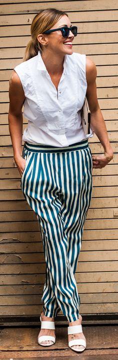 striped pants.