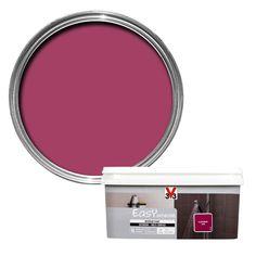 V33 Easy Blackcurrant Satin Bathroom Paint 2.0L | Departments | DIY at B&Q