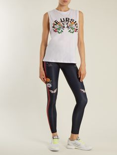 Click here to buy The Upside Chambal Garden-print performance tank top at MATCHESFASHION.COM