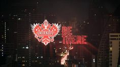 Smirnoff by Sarofsky. The team at JWT came to us looking to incorporate branding and typography into their most recent Smirnoff commercials. We started off with Smirnoff's font, Trade Gothic Condense Bold, then altered it so it would fit seamlessly into their spots. We did this by treating the typeface… The solution we came up with is a reflection of the neon elements that run throughout the commercial. We then tracked the new typeface into the environment.