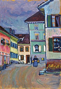 Murnau, top of the Johannisstrasse, 1908 / Wassily Kandinsky