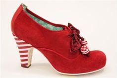 IRREGULAR CHOICE Hawk Eye Court Shoes RED