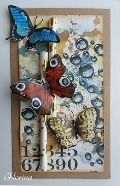 les papillons Tim Holtz