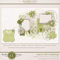 Simple Scrapbook Storytelling by SuzyQ Scraps » Desktop Freebie | March 2014