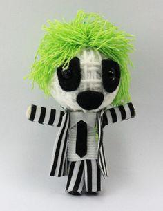 Beetlejuice ghost String doll Voodoo doll keychain/ by narakdoll, $7.99