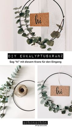 Eucalyptus is our absolute favorite when it comes to DIYs. Because Eukaly . - Eucalyptus is our absolute favorite when it comes to DIYs. Because eucalyptus looks beautif - Simple Christmas, Christmas Diy, Christmas Decorations, Eucalyptus, My New Room, Diy Gifts, Diy Home Decor, Diy And Crafts, Things To Come