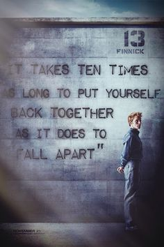 #mockingjay I feel like this so often. Like I'm hanging on by a thread to keep it together.