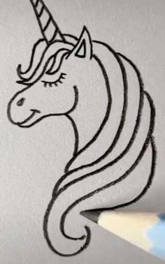 unicorn drawing easy & unicorn drawing & unicorn drawing easy & unicorn drawing sketches & unicorn drawing easy step by step & unicorn drawing easy for kids & unicorn drawing cute & unicorn drawing fantasy creatures & unicorn drawing realistic Easy Doodles Drawings, Easy Disney Drawings, Sharpie Drawings, Art Drawings Sketches Simple, Cute Easy Drawings, Girl Drawing Sketches, Art Drawings For Kids, Pencil Art Drawings, Drawing Drawing