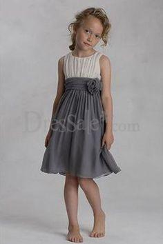 Grey flower girl dress - Maybe Someday - Pinterest - Girls dresses ...