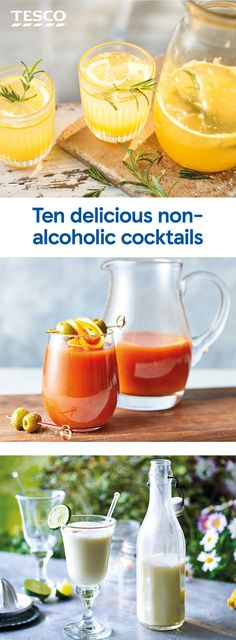 Non Alcoholic Cocktails, Drinks Alcohol Recipes, Cocktail Drinks, Fun Drinks, Yummy Drinks, Cocktail Recipes, Drink Recipes, Beverages, Healthy Recipes