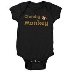 Cheeky Monkey Baby Bodysuit $19