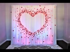 Paper Heart wreath DIY Valentines Crafts easy for wedding paper decorations/valentine paper craft Paper Wedding Decorations, Diy Wedding Backdrop, Diy Backdrop, Backdrop Decorations, Heart Decorations, Valentines Day Decorations, Valentine Crafts, Backdrops, Craft Wedding
