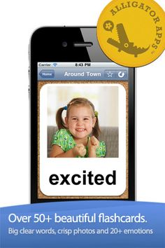 ABA Flash Cards & Games - Emotions  ($0.00) Ideal for Kids 1 - 4 Years Old  ✔ Add your own cards - record own voice and add own pictures!    ✔ Includes 200+ gorgeous photographs that are carefully hand picked and selected    ✔ Fun & engaging voice artist keeps kids engaged    ✔ 8 different play modes to show the flashcards anyway you like.    ✔ 8 unique game modes including find the item, listening, and reading games