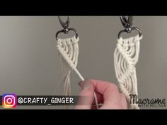 #3 of 4: DIY Macrame Tutorial: Macra-Mini Key Chain for Beginners - YouTube