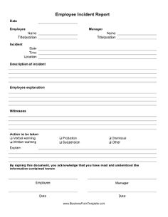 free employee write up template 1 legal forms employee