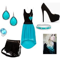 """Beautiful Black And Blue"" by gracie-i on Polyvore"