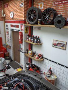 Diorama Oficina Carro Ferrari 599 XX