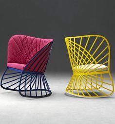 Rocking aluminium low lounge chair SOL by MOLTENI & C. | #design Constance Guisset @Molteni&C Dada