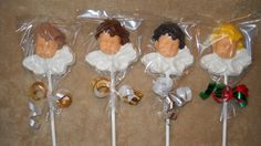 1 chocolate baby shower cloud sling angel molded lollipop lollipops | sapphirechocolates - Edibles on ArtFire