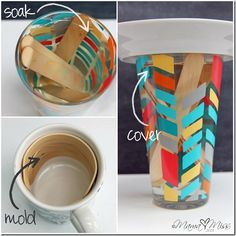 Washi Tape How to / Tutorial Washi Tape Wooden Bracelets - Easy cabin day activity! Popsicle Stick Crafts, Popsicle Sticks, Craft Stick Crafts, Fun Crafts, Diy And Crafts, Crafts For Kids, Arts And Crafts, Craft Ideas, Tapas