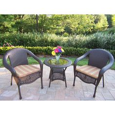 Have to have it. Oakland Living Weston Wicker Bistro Set $509.99