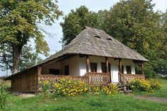 Muzeul Satului Bucovinean Romania traditional  romanian house rural romanians