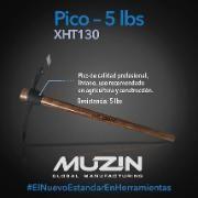 Pico 5 Lbs Muzin XHT130 #herramientas #pico #construccion #jardineria #agricola #virtualmall @fumitienda