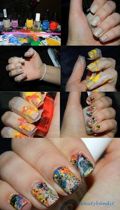 Splatter nails <3