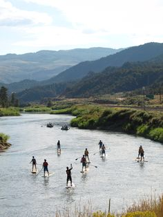 SUP - A New Stand Up Paddle Outfitter Launches on the Colorado mtn-town-views Vail Village, Offshore Wind, Sup Yoga, Standup Paddle Board, Sup Surf, Learn To Surf, Paddle Boarding, Beautiful World, Beautiful Places