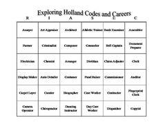 UTSA Career Center ::Students:: RIASEC and Holland Codes - I ...