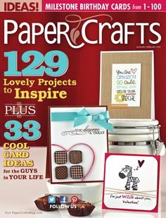 Paper Crafts Enero & Febrero 2013  Revista Scrapbooking & Cards