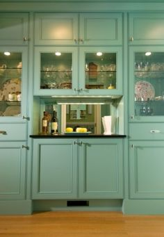 Kitchen Pass Through To Dining Room Design, Pictures, Remodel, Decor and Ideas - page 10 Glass Front Cabinets, Kitchen Cabinets, Kitchen Pass, Kitchen Ideas, Teal Kitchen, Kitchen Country, Kitchen Photos, Kitchen Redo, Wet Bar Designs