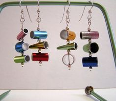 Now how would you like to sport some sliced knitting needle dingly dangly earrings ????????????
