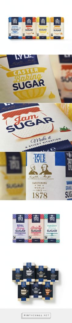 Design Bridge - Tate & Lyle\'s Sugar Range — World Packaging Design Society / 世界包裝設計社會 / Sociedad Mundial de Diseño de Empaques. - a grouped images picture - Pin Them All Sugar Packaging, Baking Packaging, Organic Packaging, Dessert Packaging, Cool Packaging, Chocolate Packaging, Food Packaging Design, Coffee Packaging, Bottle Packaging