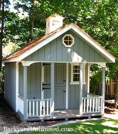 10'x12' Chalet Style Garden Shed Playhouse with Cedar Shake Roof and Cupola http://www.backyardunlimited.com/custom-storage-sheds