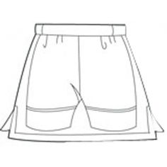 Pull-on Tennis Skirt with attached shorties. Tennis Clothes, Wardrobe Rack, Plus Size, Skorts, Pattern, Flat, Clothing, Decor, Outfits