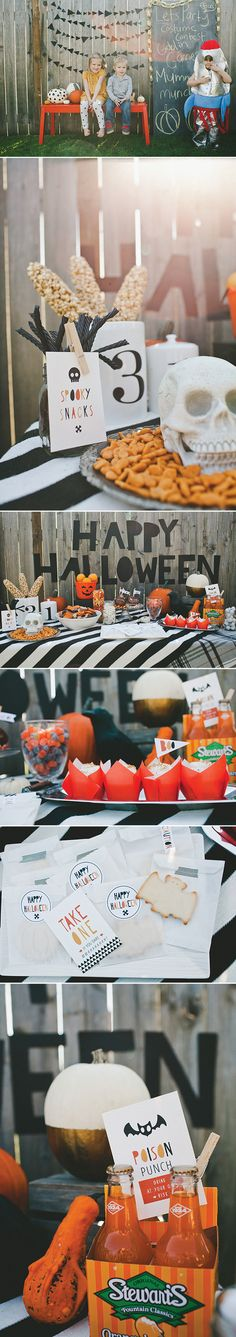 Halloween Party | Download Invitation, Food Cards, Tattoos and More!