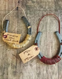 Western Housewarming Good Luck Horseshoe Sign, Country Decor, Wedding Gift, Vintage Tea Stained Tag, Twine or Leather, Cowboy and Cowgirl