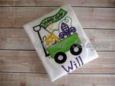 Mardi Gras Wagon Appliqued T-shirt for Boys or by EmbellishedBayou