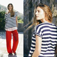 New mix righe e rosso #laFABBRICAdelLINO. #Stripes #RedPassion #100per100lino #Fashion #ItalianAttitude