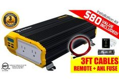 KRIGER 1100 Watt Power Inverter Dual AC outlets Installation kit included Automotive back up power supply for Blenders vacuums power tools and more MET approved according to UL and CSA standards ** Read more at the image link. Ninja Professional Blender, Wireless Headphones For Tv, Power Backup, Audio, Usb, Buy A Cat, Vacuums, Outlets, Car Ins