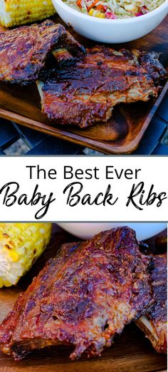 These Baby Back Ribs are the best ever! Marinated for 8 hours in a to die for dry rub and then slow roasted in the oven on low for hours. Finished off on the BBQ where they are smothered in barbecue sauce. So tender these ribs literally melt in your Bbq Ribs, Pork Ribs, Pulled Pork, Pork Rib Recipes, Grilling Recipes, Cooking Recipes, Smoker Recipes, Lunch Recipes, Rub Recipes