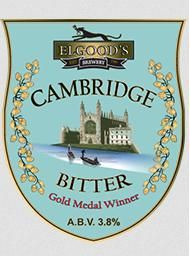 ELGOODS BREWERY'S CAMBRIDGE BITTER - Elgood's Brewery is a family business established over 200 years ago. This ale is a mild brown bitter with a good balance of malt and hop character give a pleasing session drink.  The finest pale ale malt (made from Maris Otter barley) is blended with torrified wheat, invert sugar and a small amount of roast barley, to ensure consistent colour. Hops used are English Fuggles and challenger, a blend that gives a full hop character to the beer.