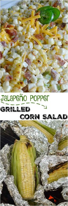Bring on Summer and Barbecue season! This Jalapeño Popper Grilled Corn Salad Recipe brings so many great flavors together in one amazing side dish! Fresh grilled corn, bacon, jalapeño and cheddar cheese in a creamy summer salad. #sidedish http://wonkywonderful.com